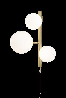 Molekyl Vägglampa matt mässing/vit 36cm