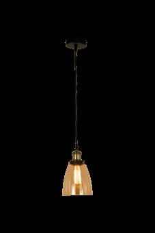 Becky Taklampa antik/amber 23cm