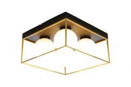 Astro Plafond svart/guld/opalvit 28cm