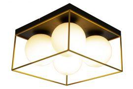 Astro Plafond svart/guld/opalvit 36cm