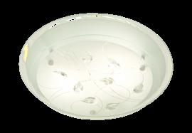 Demi Plafond vit/klar/krom 33,5cm