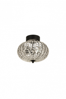 Edda Plafond svart/klar 29,5cm