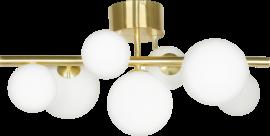 Molekyl Plafond matt mässing/vit 58cm