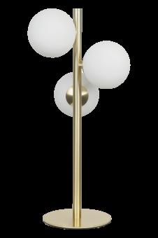 Molekyl Bordslampa matt mässing/vit 46cm