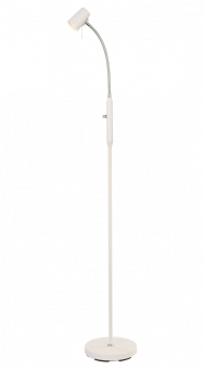 Pilot Golvlampa vit/krom 135cm