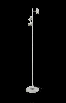 Gusto Golvlampa vit/krom 135cm