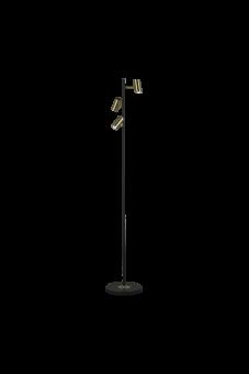 Gusto Golvlampa svart/matt mässing 135cm