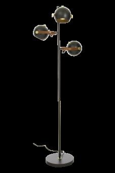 Bow Golvlampa svart/matt mässing 152cm