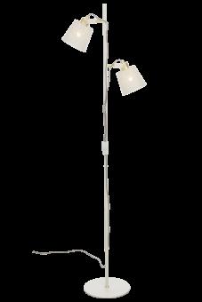 Frapino Golvlampa vit/matt mässing 151cm