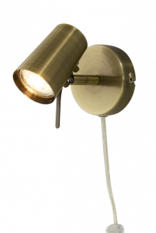 Pilot Sänglampa antik 14,5cm