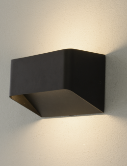 Sögne Vägglampa svart 15cm