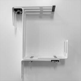 Konsol till Fency balkonglåda vit 2 st