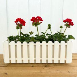Fency blomlåda vit 50cm