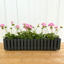 Fency blomlåda grå 75cm