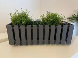 Fency blomlåda självvattnande grå 50cm