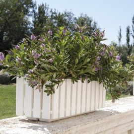 Fency blomlåda självvattnande vit 50cm