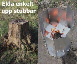Stubbskorsten för bortagning av stubbe