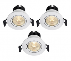 Markslöjd Apollo Downlight Spot 3-pack Vit