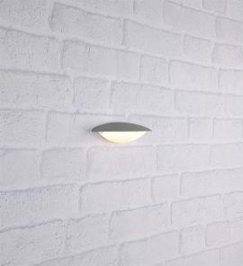 Apus vägglampa ljusgrå IP44