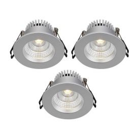 Markslöjd Ares Downlight Spot 3-pack IP44 Silver
