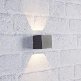 Argos vägglampa mörkgrå IP44 LED