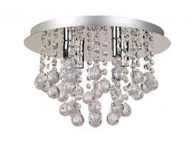 Aries kristallplafond med fyra lampor i krom för moderna inredningar