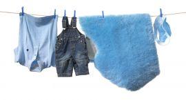 Fårskinnsfäll Baby Blå