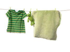 Fårskinnsfäll Baby Grön