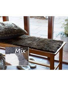 Fårskinnssits Bench Mix 35x100cm