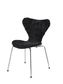 Stolsöverdrag i fårskinn till Sjuan stol 50x80cm svart