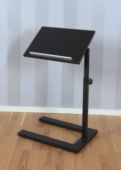 Bodil sängbord/läsbord i trä svart 64-100cm