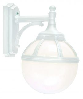 Norlys Bologna vägglampa E27 vit, opal glas