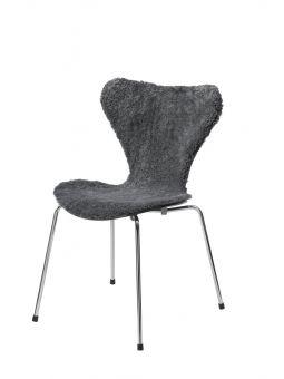 Stolsöverdrag i fårskinn till Sjuan stol 50x80cm charcoal