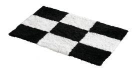 Fårskinnsmatta Chess Black Offwhite 60x90cm