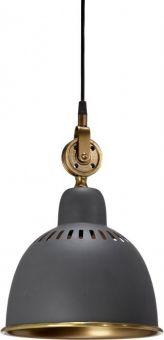 PR Home Cleveland taklampa grå/mässing 23cm