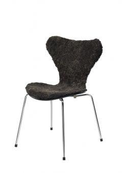Stolsöverdrag i fårskinn till Sjuan stol 50x80cm espresso