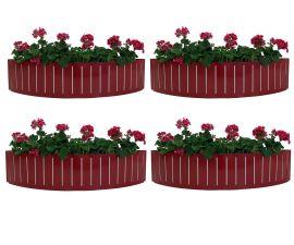 Ventura Funky Röd Blomlåda 4-pack