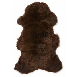 Gently långhårigt Fårskinn naturligt brun 100cm Skinnwille