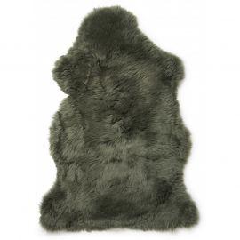 Gently långhårigt Fårskinn grön 100cm Skinnwille