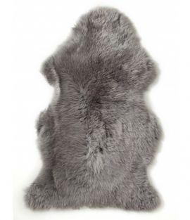 Gently långhårigt Fårskinn graphite 100cm Skinnwille