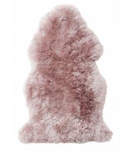 Gently långhårigt Fårskinn rosa 100cm Skinnwille