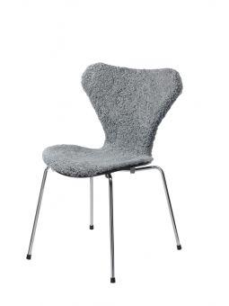 Stolsöverdrag i fårskinn till Sjuan stol ca 50x80cm graphite