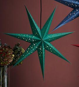 Markslöjd Solvalla pappersstjärna grön 75cm