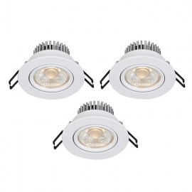 Markslöjd Hera Downlight Spot 3-pack IP44 Vit