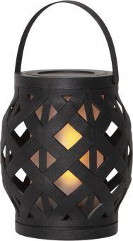 Lykta Flame Lantern svart 16cm Star Trading