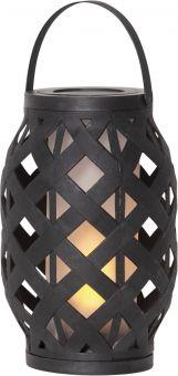 Lykta Flame Lantern svart 23cm Star Trading
