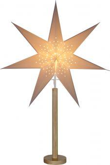 Adventsstjärna på fot Elice natur/vit Star Trading