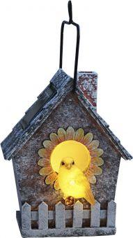 Solcellsdekoration Birdie Fågelholk grå Star Trading