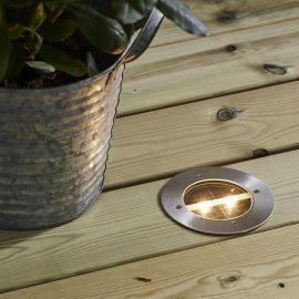 Solcells-spotlight Decklight silver 12cm Star Trading