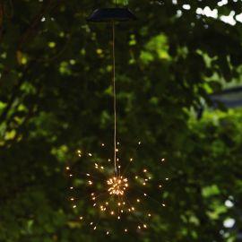Hängande Solcellsdekoration Firework Solar varmvit Star Trading